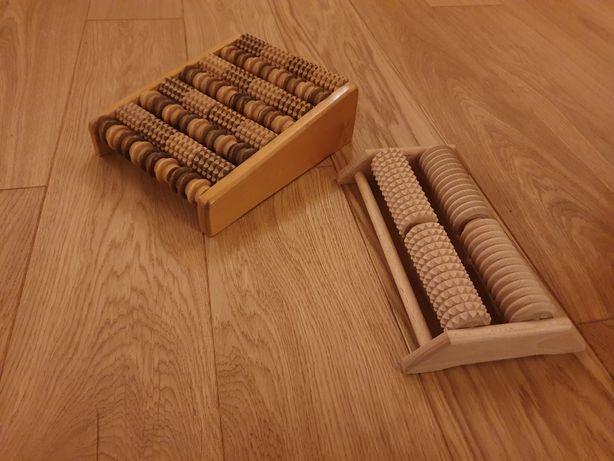 Drewniany roller, masażer do stóp 2 sztuki