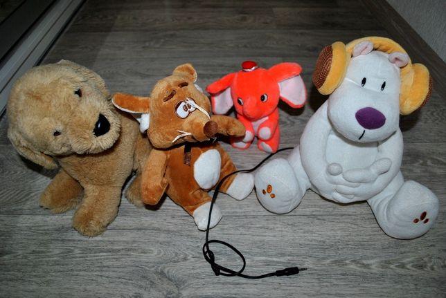 Продам игрушки одним лотом 4 шт собаки слон крыса