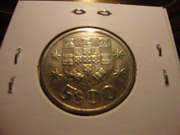 Moeda 5 Escudos Cupro-Níquel 1964