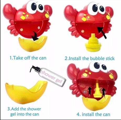Игрушка для ванной музыкальный краб Bubble crab бабл краб