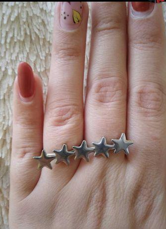 Pierścionek na dwa palce regulowany gwiazdki
