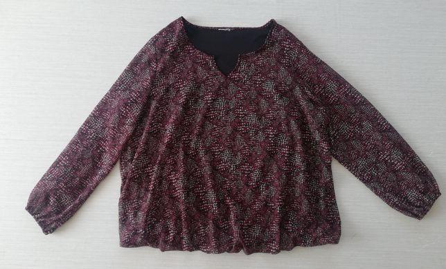Czarno-czerwona bluzka r.50