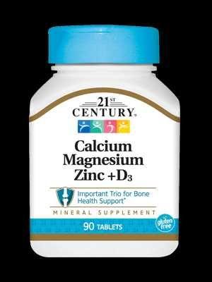 Кальцій-Магній-Цинк + D3  21st Century 90 таблеток (С21017)