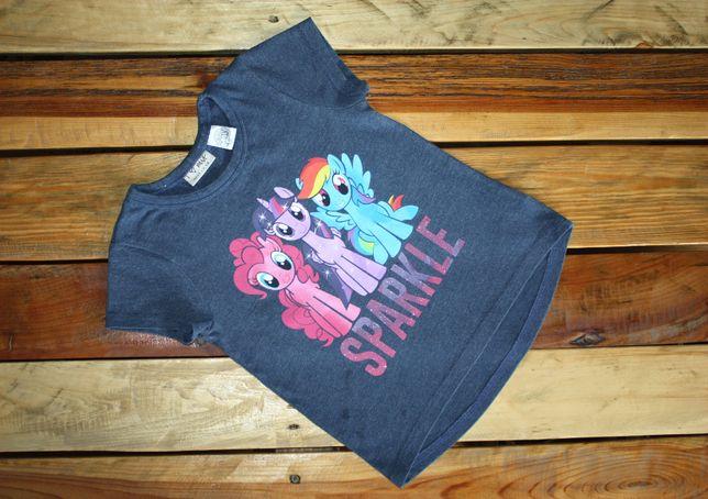 bluzka NEXT My Little Pony, granatowa, krótki rękaw, dł. tył_roz. 104