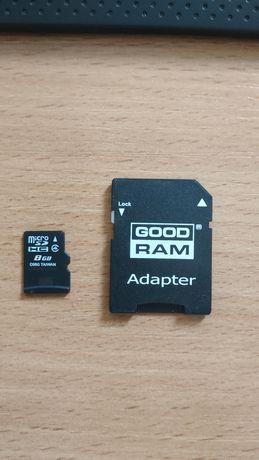 Karta pamięci MicroSD wraz z Adapterem   8GB   GOODRAM