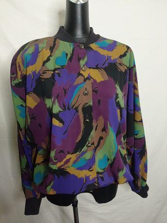 Винтажный Бомбер куртка пиджак винтаж ретро
