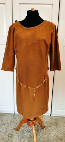 Sukienka a'la nubuk piękna rozmiar XL
