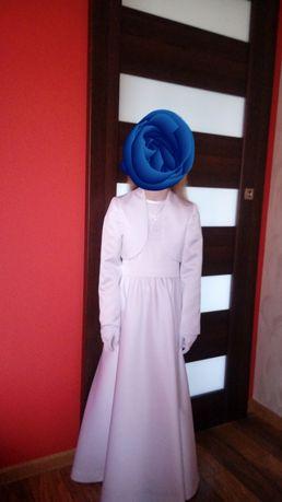 Piekna sukienka komunijna w rozmiarze 134