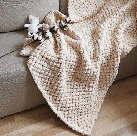 Плюшевый плед, 160×210 покрывало, одеяло фотозона ручная работа