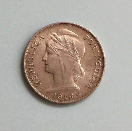 moeda 50 centavos 1916 - prata