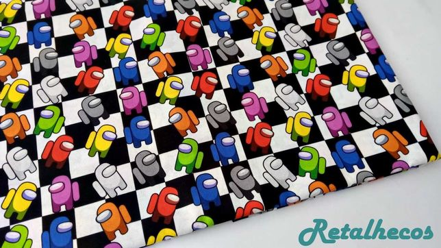 Retalhos Among Us 100% algodão