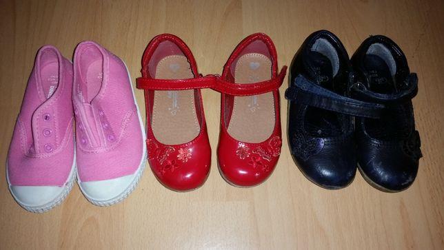 Buty dziewczęce 3 pary bardzo ładne