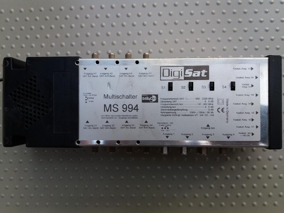Przełącznik DiSEqC 2.0, DigiSat MS 994, 8 x sat, 1 x ter., 4 x wyjścia Kostrzyn nad Odrą - image 1