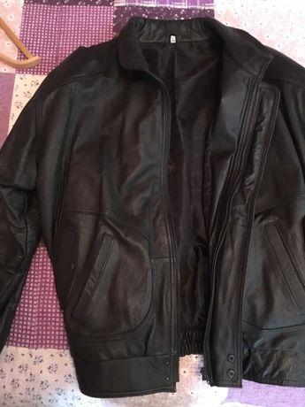 "Кожаная куртка ""бомбер"" размер -L (наш50-52) , на рост165-170 см."