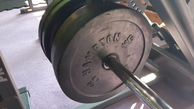 2 x 50kg unikat okazja. Obciążenie olimpijskie fi51 ogumowane Hampton