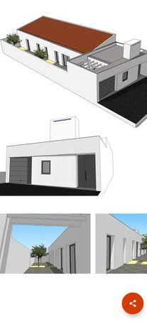 Terreno com projeto Moradia t3 r/c - Évora