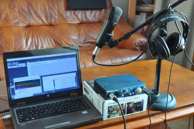 Mobilne studio nagrań:Mikrofon MXL+Presonus iTWOBOX+Laptop+soft!