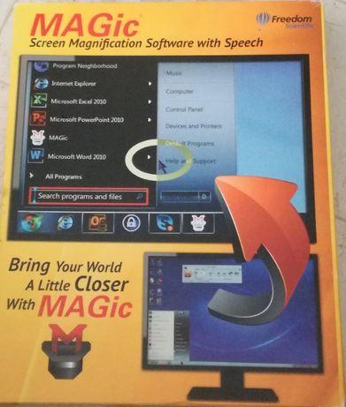 Magic screen - Program do powiększania wraz z mową dla słabowidzących