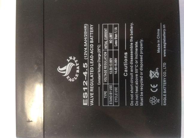 Аккумулятор ES12-4.5, свинцово-кислотный, 12V, 4,5Ah