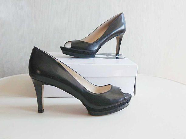 новые кожаные туфли Nine West кожа черные каблук босоножки