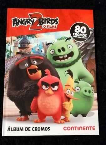 Coleção completa Angry Birds 2 Caderneta + 80 cromos