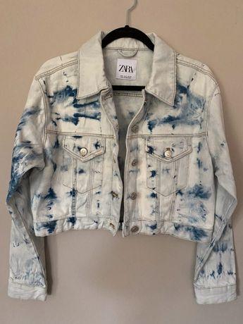 Kurtka jeansowa tie dye oversize Zara