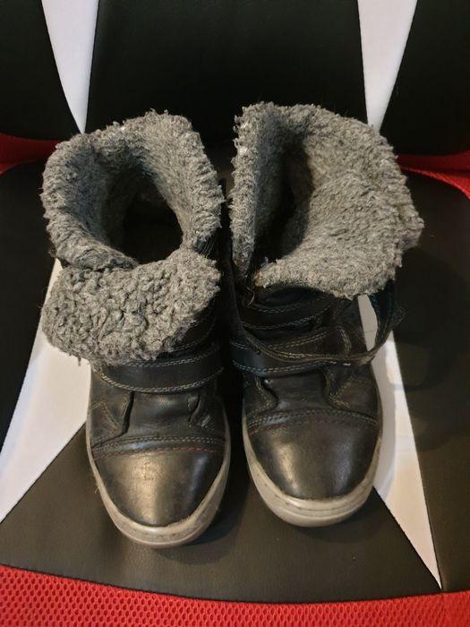 Buty dziecięce skórzane ocieplane 35 Wrocław - image 1