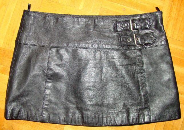 sexy krótka mini czarna skórzana spódnica S/M 36/38 pas 74-76 Warszawa