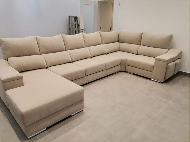 Sofa de canto novo disponivel tecido anti fogo maxima resistencia