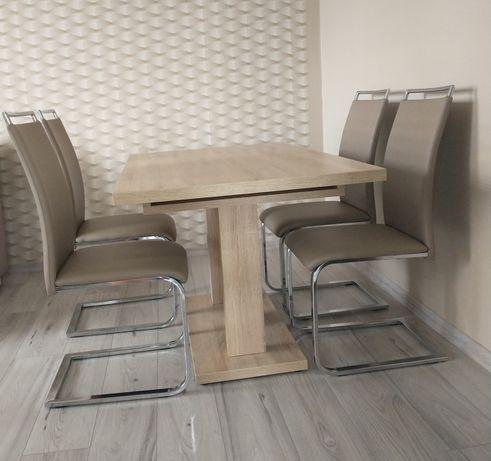 Stół + 4 krzesła Black Red White