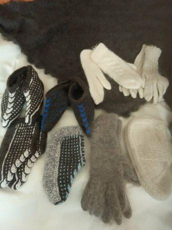 Продам очень теплые, пуховые (носки, варежки, косынки, следы)