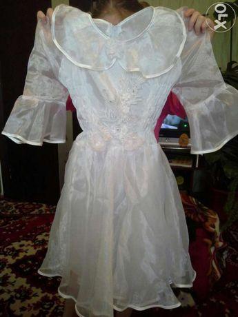Плаття біле Сніжинка в садочок