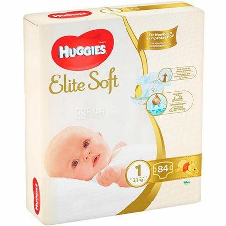 Подгузники Huggies Elite Soft 1 (3-5 кг), 84 шт. - 850р