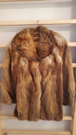 Futro krótka kurtka z lisa vintage