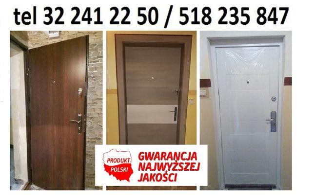 Drzwi z montażem 790 zł ,wejściowe wzmacniane i wyciszone , dwa zamki