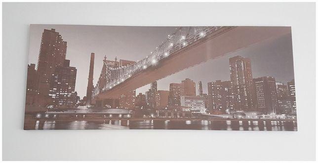 Obraz panorama most New York 150x60