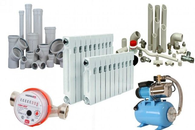 Монтаж систем водоснабжения, сантехники, канализации