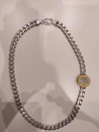 Łańcuszek srebrny pancerka srebro próba 925