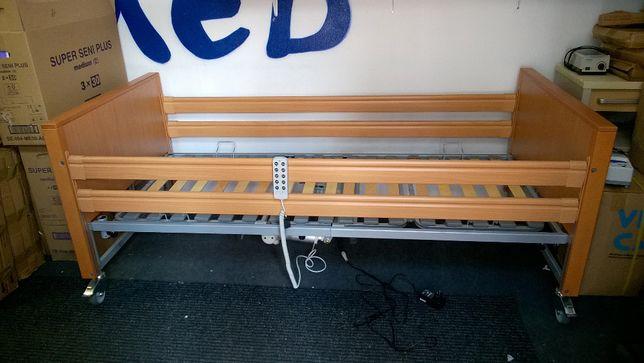 Elbur PB 331 łóżko rehabilitacyjne, medyczne 4 funkcyjne z barierkami