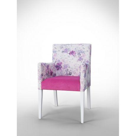 Fotel nowoczesny w kwiaty