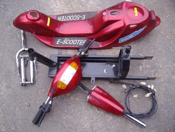 Электросамокат 24v 350w (рама,вилка,руль,подножка,обвес,фары,дисплей)
