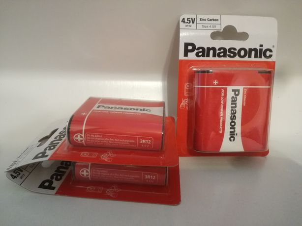 Baterie Panasonic 3R12 4.5V Zinc Carbon cynkowo węglowe