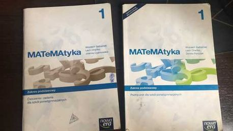 MATeMAtyka 1 Podręcznik i ćwiczenia NOWA ERA
