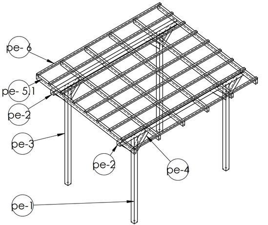 Zadaszenie tarasu wiata daszek konstrukcja drewniana gotowy projekt.