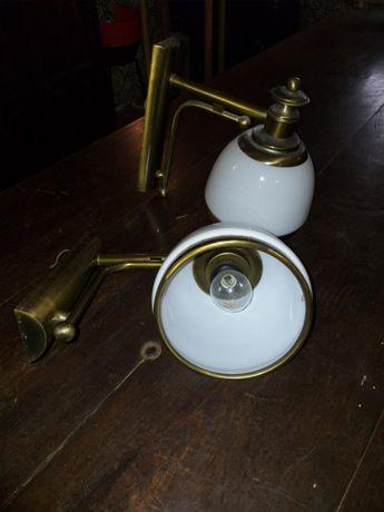 Conjunto apliques e candeeiros mesa cabeceira