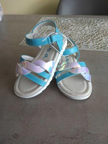 Nowe sandałki dla dziewczynki roz 26 firmy 5 10 15