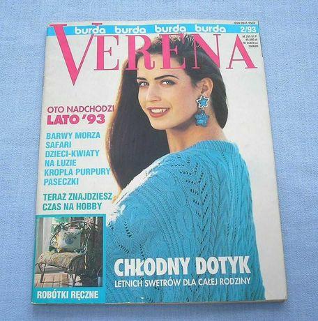Burda Verena 2/1993 z opisem i wzorami