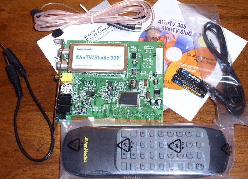 TV- и FM-тюнер AVerTV Studio Model 305 Вишневое - изображение 1