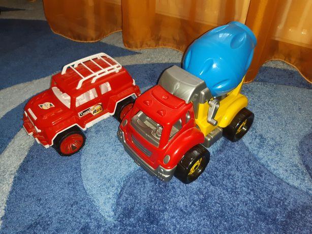 Машинки комплект джип и бетономешалка в идеальном состоянии!