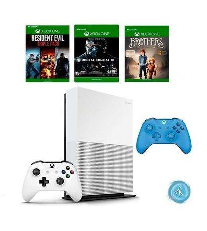 Xbox One S + Игра + джойстик